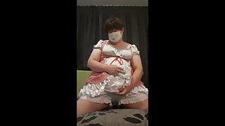 Chubby Femboy in Cute Short Dress & Bloomers
