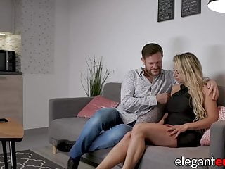 Barefoot princess maid to clean cum Adorable barefoot euro maid loves hard anal fucking on couch