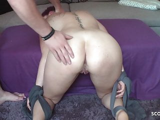 Mother fuck by his son Redhead german mother made to slave and fuck by step son