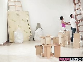 Naughty stepmom sex - A naughty threesome with stepmom joining