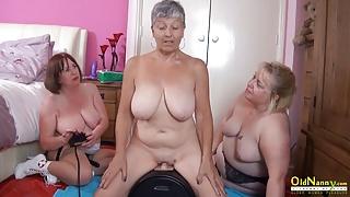 OldNannY Three British Matures and Sex Machine
