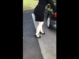 Sexy wife flash My sexy wife at the gas station