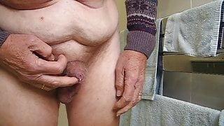 My small uncut pre-cumming & peeing