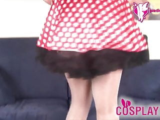 Vintage minnie mouse figurines - Minnie mouse in white stockings foot fetish video