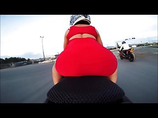 Pam anderson strip on motorcycle video Motorcycle thong slip