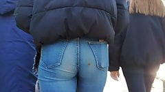 Sweet Teen with Nice ass in tight jeans