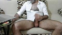 Bearded Hung Hirsute SILVERDAD BEATS MEAT-SHOWS HAIRY HOLE