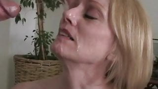 Blowjob And Facial For Mature Lady