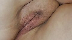Husband creampies my chubby pussy