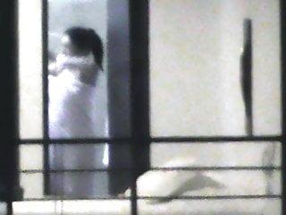 Asian underware Window voyeur after shower underware