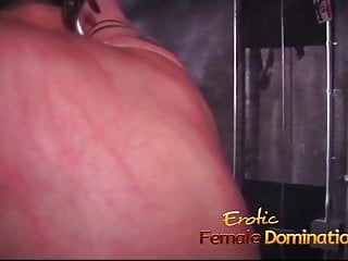 Naughty dungeon sex - Kinky dude enjoys some naughty dungeon fun with a hot redhea