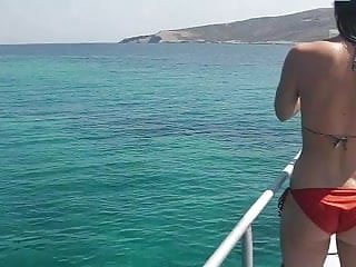 Sexy girl on boat Girls on boat
