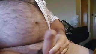 Hairy bear strokes one out