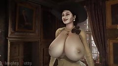 resident evil 8: village alcina dimitrescu bouncing boobs