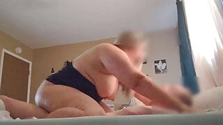 Native BBW Neighbor Blaze Keeps Cumming on my hard cock