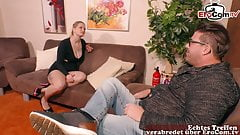 german chubby blonde housewife make first time porn
