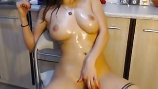 Brunette sexy curves and big tits boobs and ass