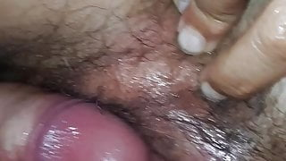 Eat her nice hairy pussy