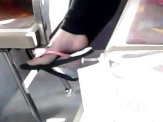Candid teen feet pics Candid teen feet on bus