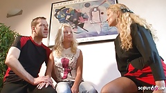 German Mature Psychologist Teach Young Couple How to Fuck