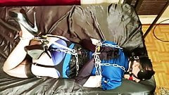 Nyxon Chained Up in Metal Bondage