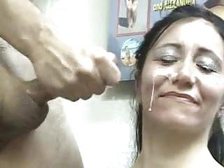 Handjob cumshoot Mature facial cumshoot