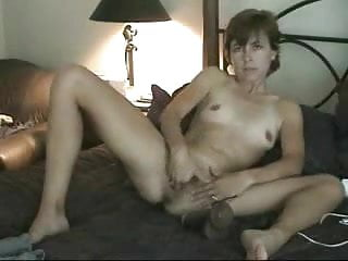 Sex toys home made Horny wife likes to be watched while she masturbate. home made video
