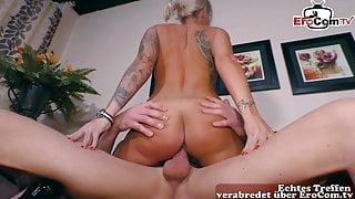 GERMAN BLONDE - PRIVATE COUPLE CASTING with girl next door