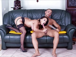 Titty fucking gallery Black stockings gallery liza del sierra hard fucking on sofa