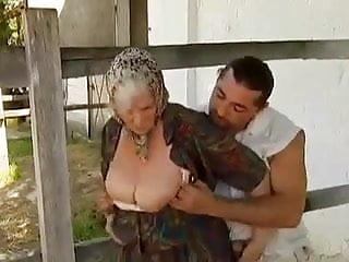 Mature farm 2 farm grannies seduced by young man
