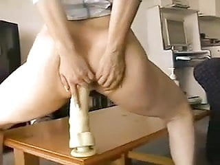 Monster dildo in ass Huge monster dildo in her ass