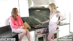 Two trannies fuch sexy hot girl