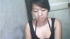 teen  girl on skype