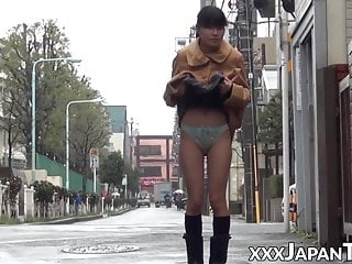 Naked men underwear showing - Japanese females showing their underwear in public places