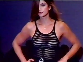 Cindy crawford gallery porn star - Cindy crawford wearing sheer top on the runway