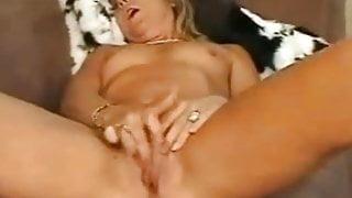 Skinny MILF Rubs Her Clit to Orgasm