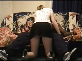 Vintage clothes rail - White wife railed by black bull