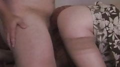 Blonde MiLF in stockings and heels does Anal