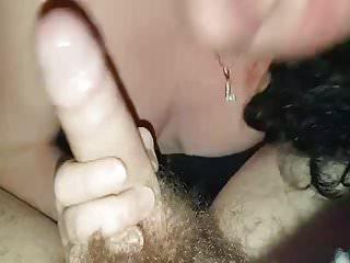 Blow cum job shot sucking Miss blow job sucking cock
