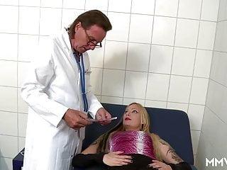 Video of breast examination - German anal examination