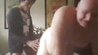 Daddy fucked by young