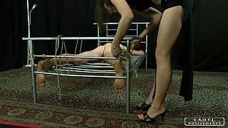 Lady Ann - Caning, bastinado, face slapping, foot worship