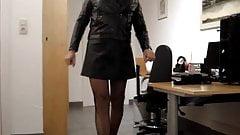 Transvestite in leather