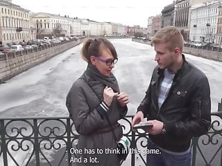 Gay emo people kissing Nerd girl rather plays with russian guy instead playstation