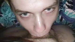 Cute gay boy sucking nice fat dick