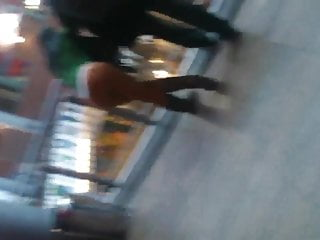Shopping mall fuck pussy - Girl in thong in a shopping mall
