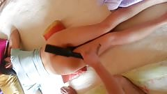 Korean milf spanking