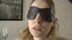 Blindfolded and teased