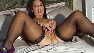 Sexy British stepmom Christine with big natural tits