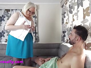 Milf mad Sex mad sally with a young man